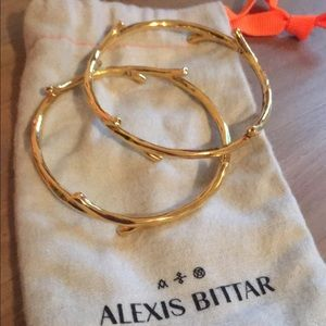 Alexis Bittar silver twig bangles